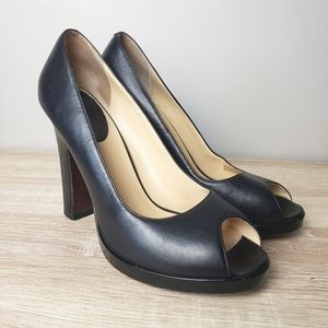Cole Haan Black Leather High Heels size 8